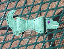 Gator Felt Bow In the Hoop Embroidery Design