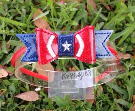 America Hero Inspired Bow