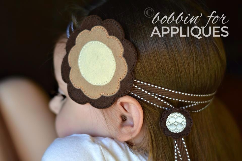 Flower Adjustable Ribbon Headband ITH
