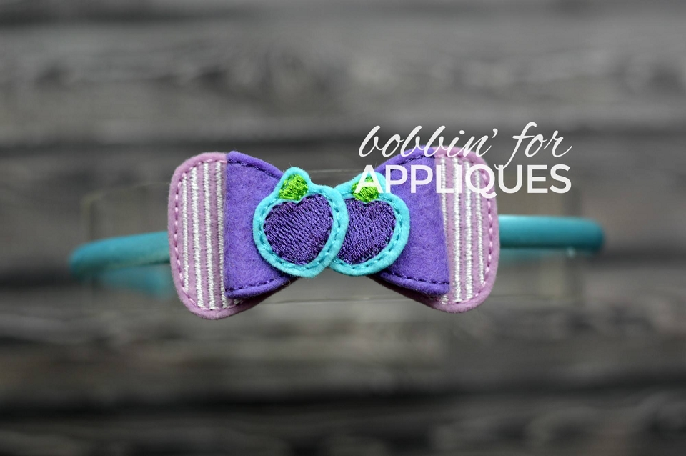 Plum Girl Inspired ITH Felt Bow