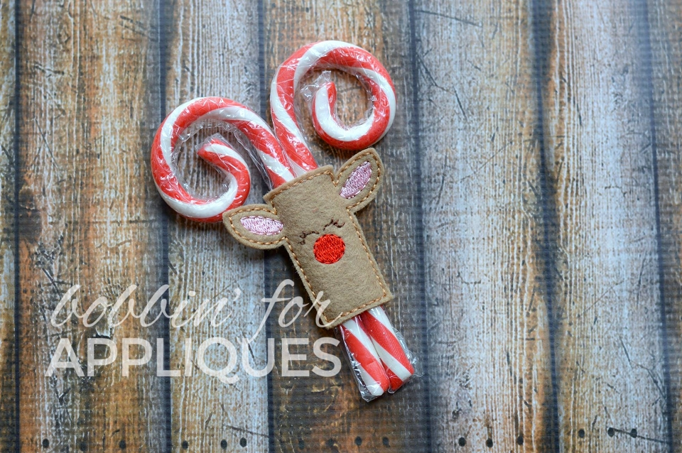 Reindeer Candy Cane Cover ITH Project/Gift