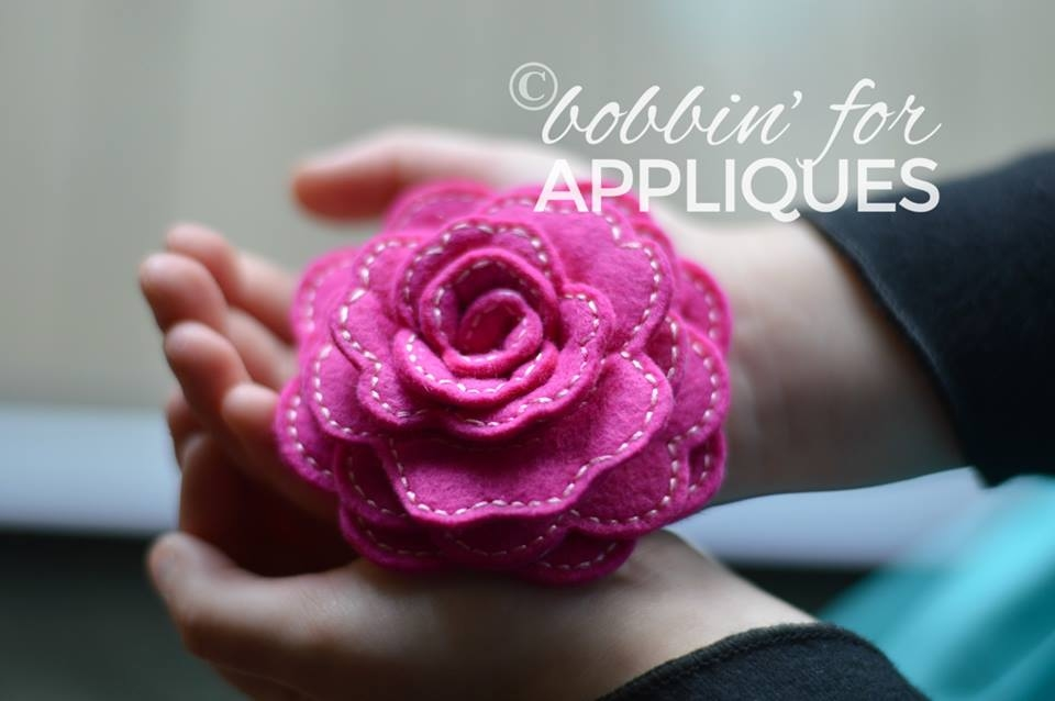 3D Rolled Stacked Heart Flower Design