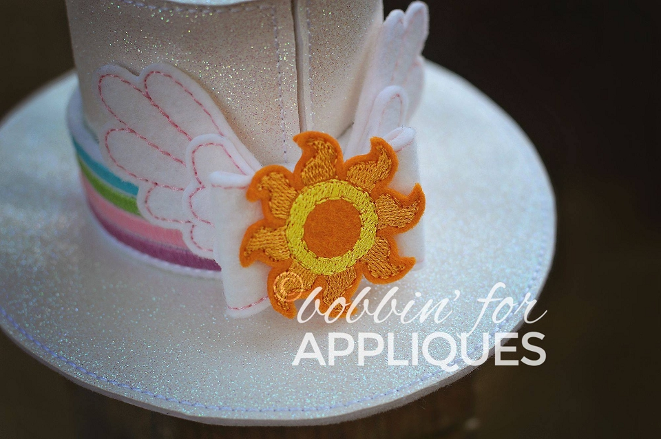 Sun Horse Inspired Hat Band and Bow for ITH Top Hat Version 2