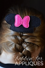 Girly Mouse Inspired Hair Comb Topper