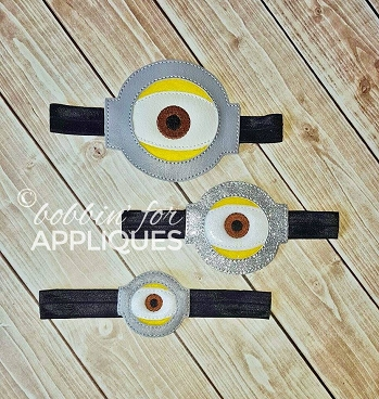 Yellow Helper Cyclops Goggles ITH Headband