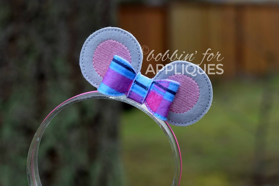 Dancing Mouse Inspired Standing Ear Bow ITH Project