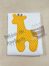 Giraffe Safari Nursery Applique Embroidery Design File