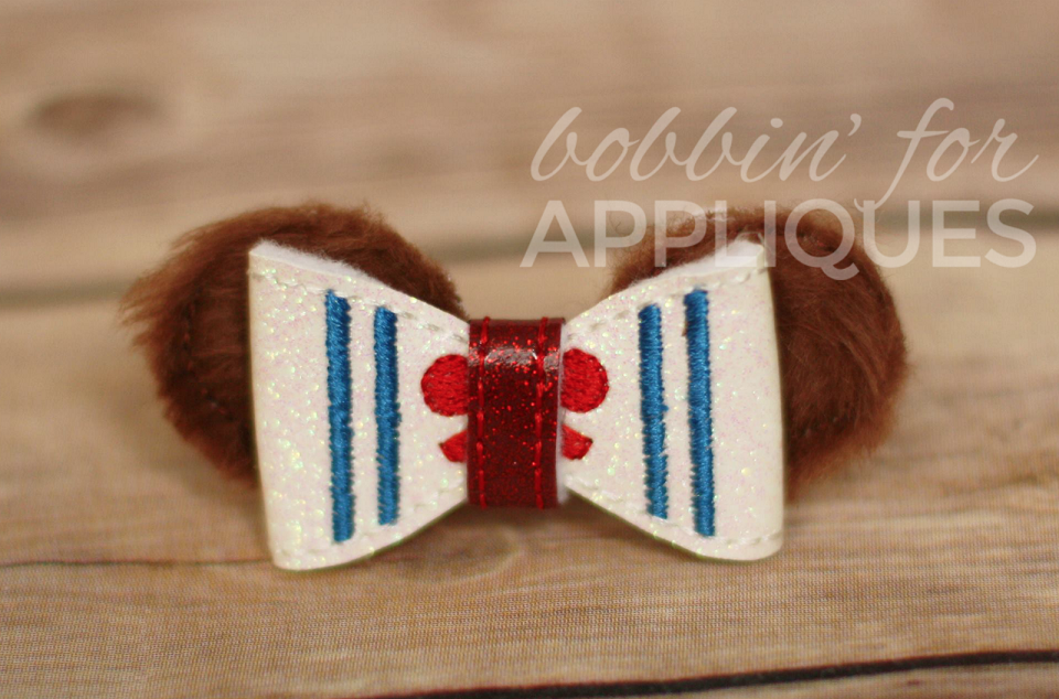 Nautical Bear Inspired ITH Bow