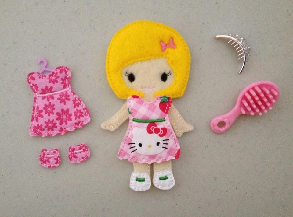Abigail ITH Felt Dress Up Doll Embroidery Design File