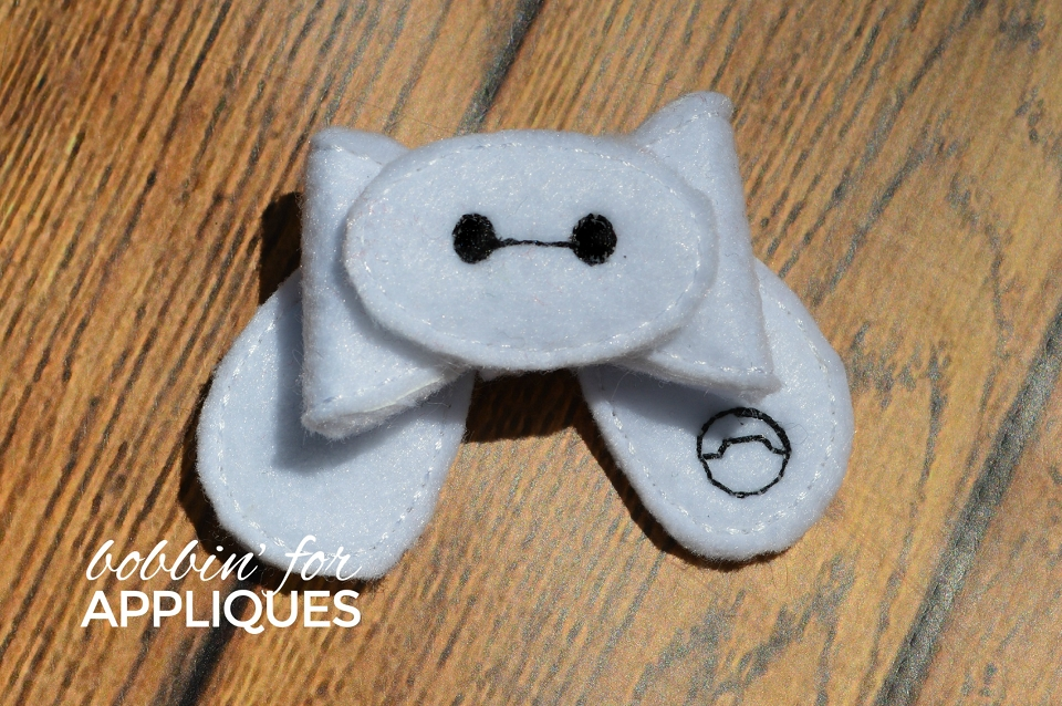Fluffy Nurse Inspired ITH Felt Bow
