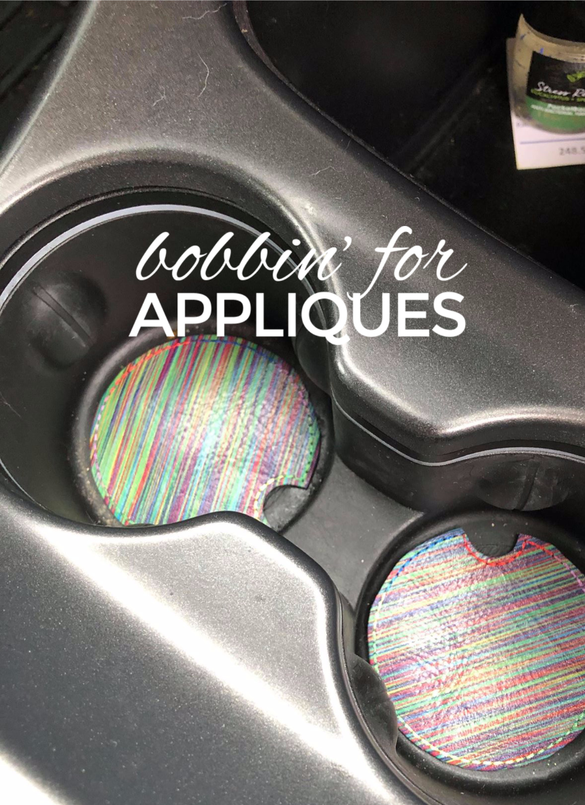 Blank Car Coaster Cup Holder Liner ITH