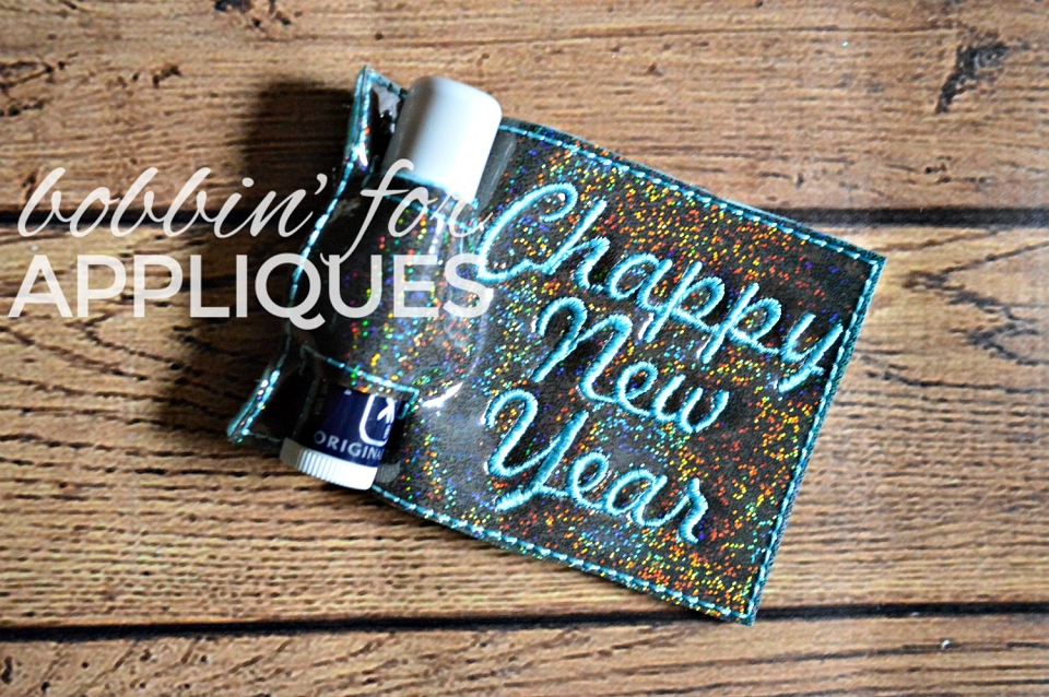Chappy New Year ITH Lip Balm Holder Gift