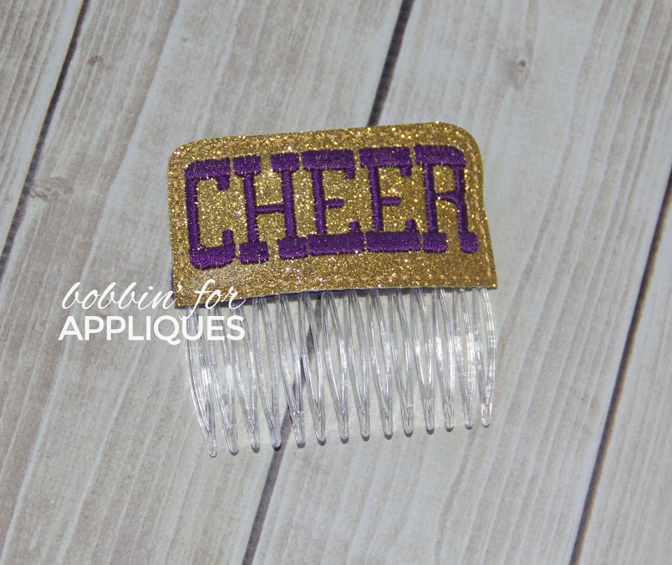 Cheer Cheerleading Hair Comb Topper