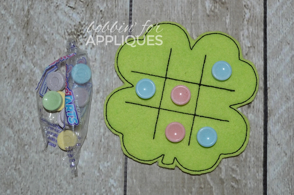 Shamrock Clover Candy Tic Tac Toe Board ITH Project
