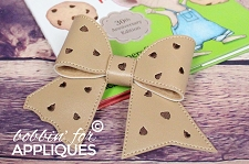 Chocolate Chip Cookie Cheer Bow BIG BOW project ITH