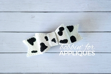 Cow Print Bow ITH