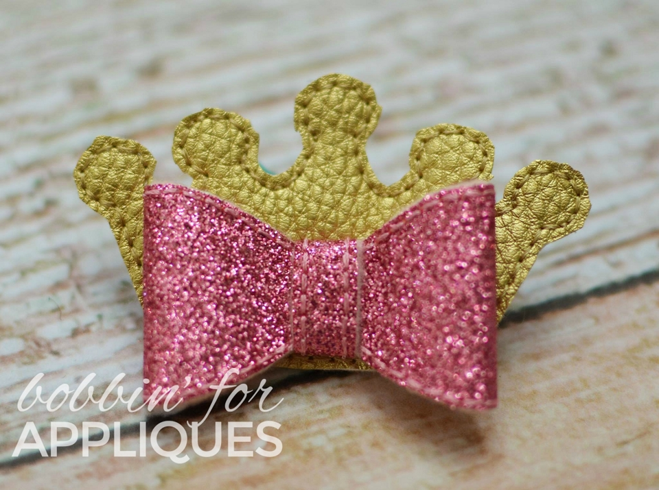 Princess Crown ITH Bow