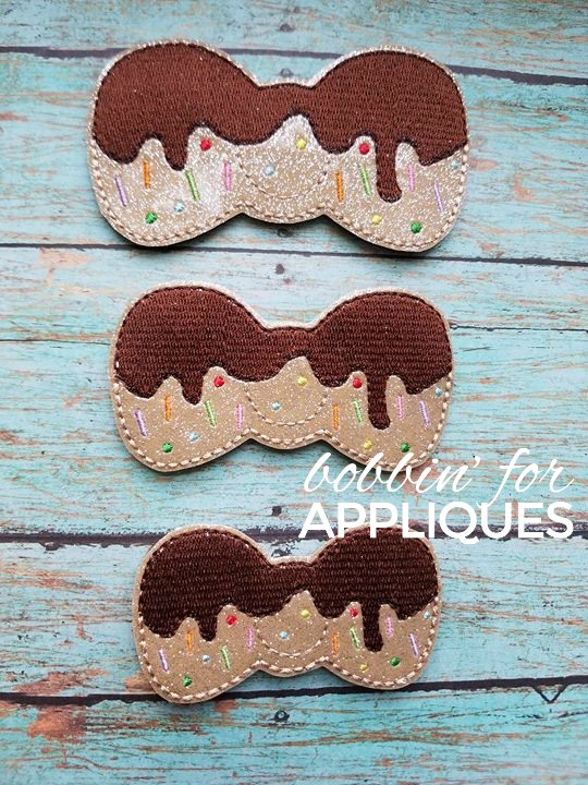 Donut Bow Felties in 3 sizes