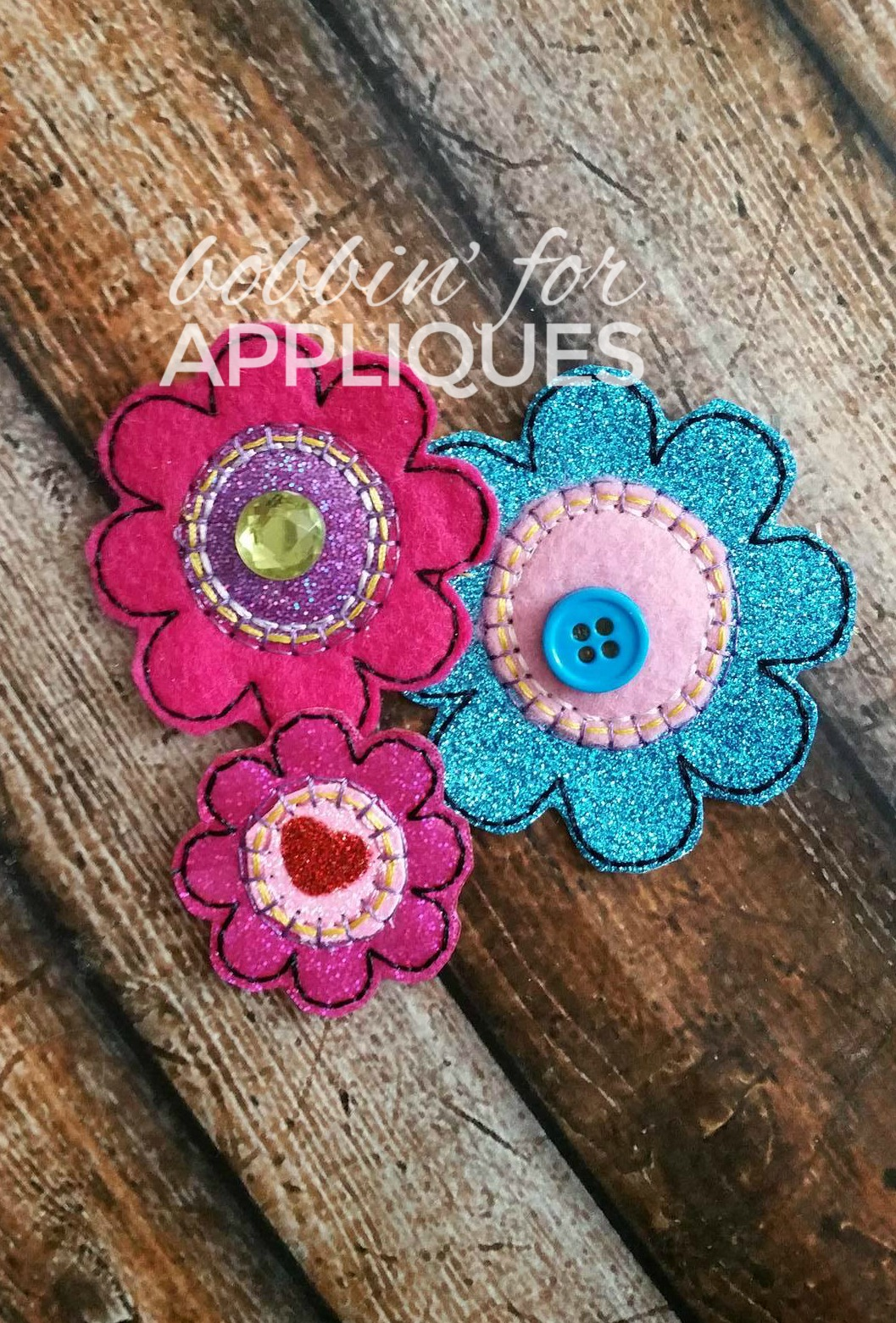 Scrapbuster Applique Flower Felties