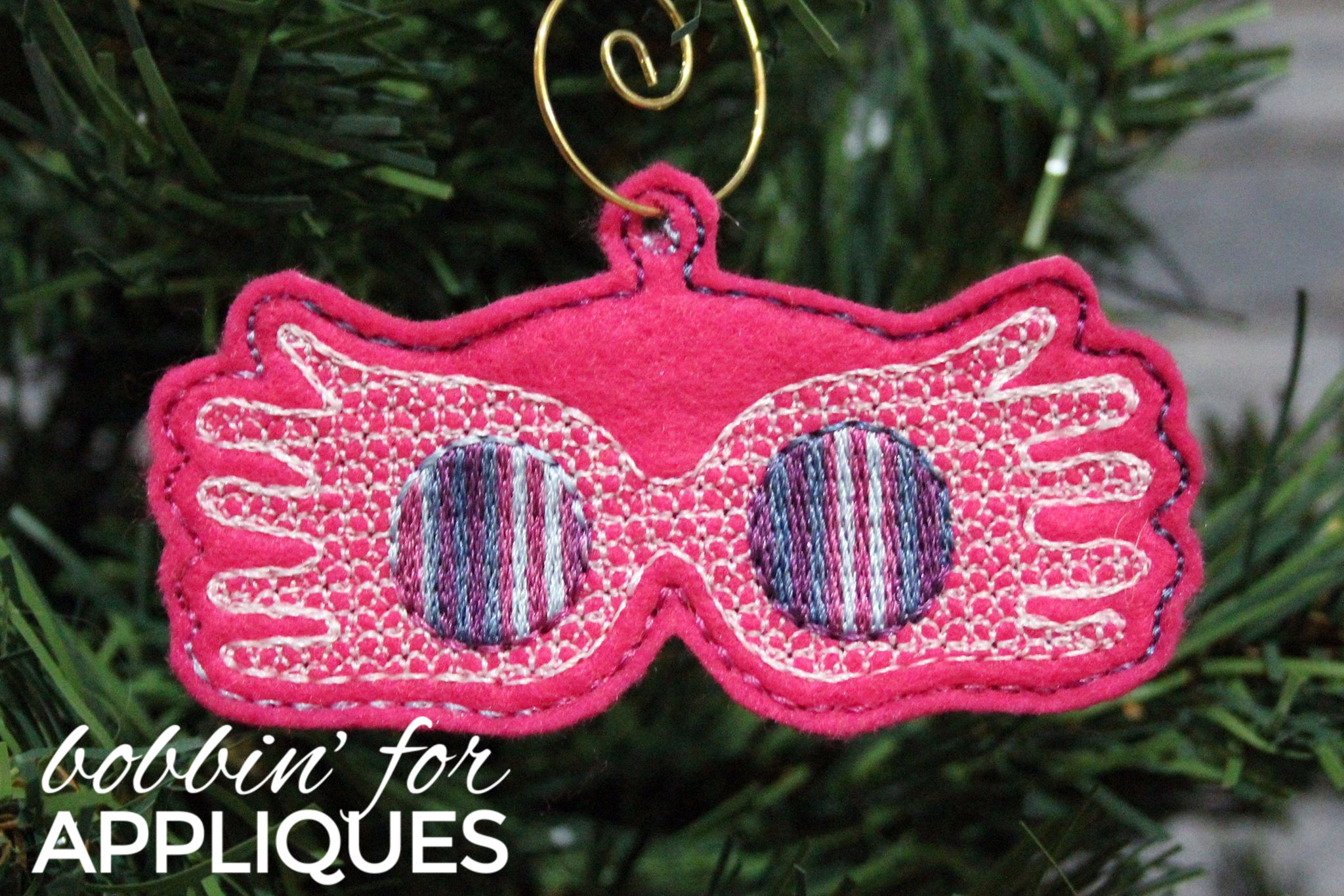 Eccentric Glasses inspired ITH Ornament