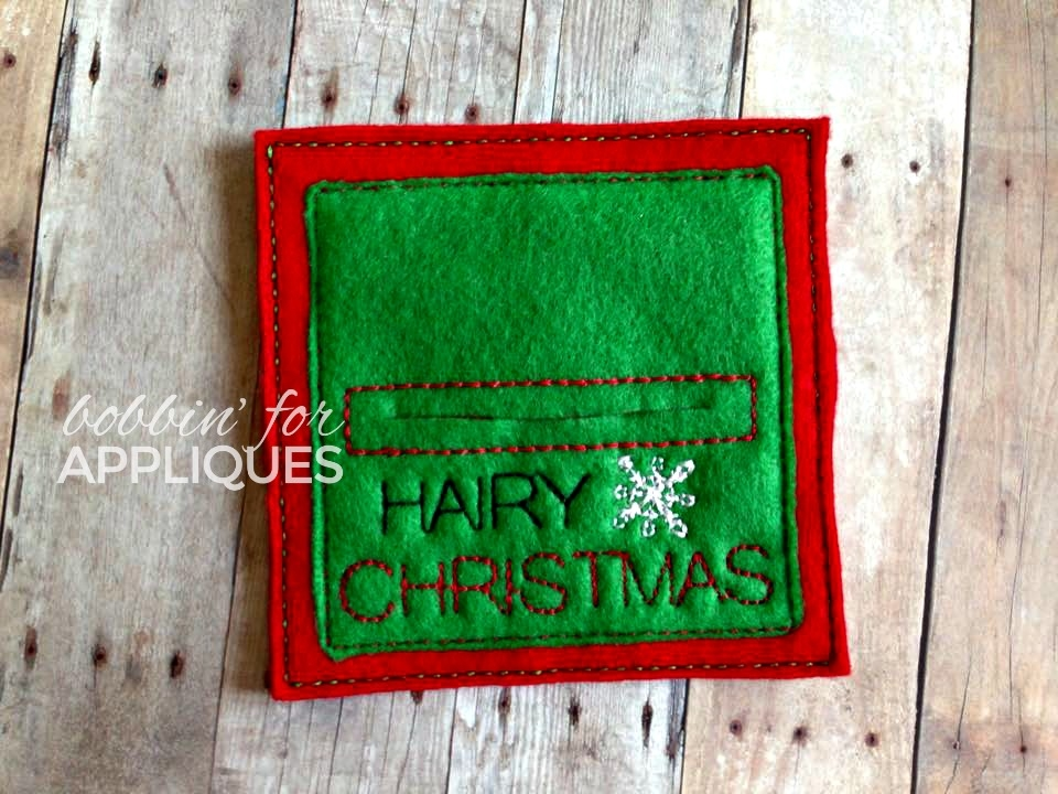Hairy Christmas ITH Product Card for Bows and Haircombs