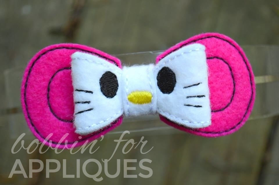 Pretty Kitty Inspired Felt Bow