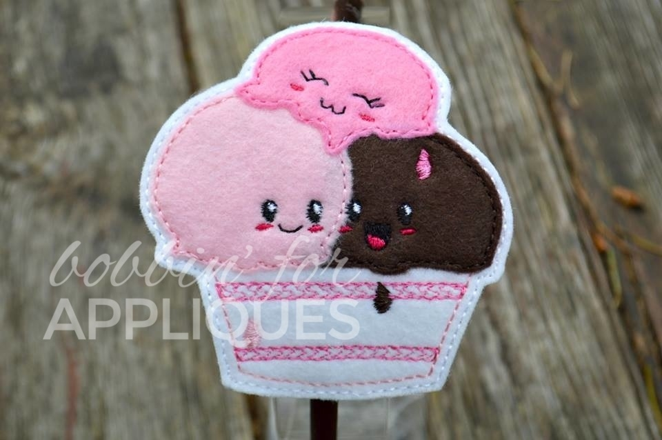 Kawaii Ice Cream Large Hair Pretty Feltie