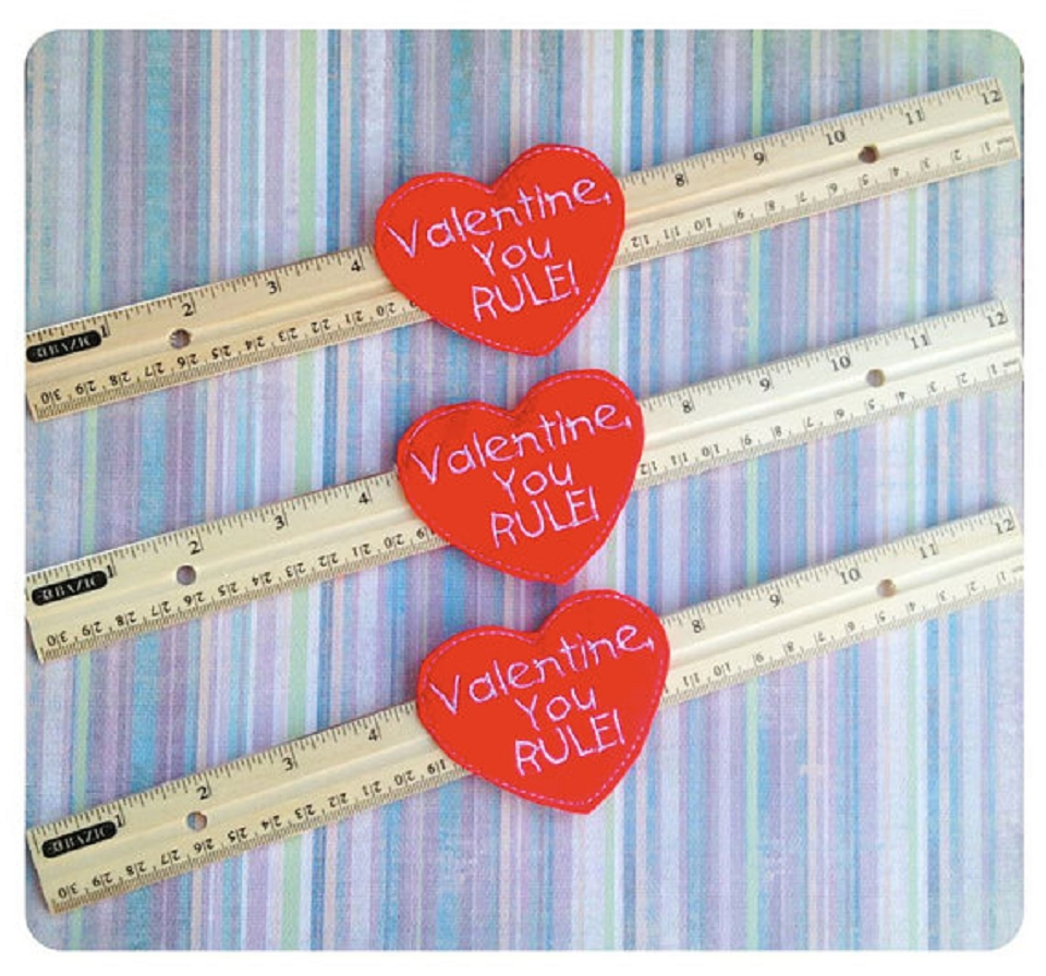 Valentine You RULE Ruler Holder ITH Design