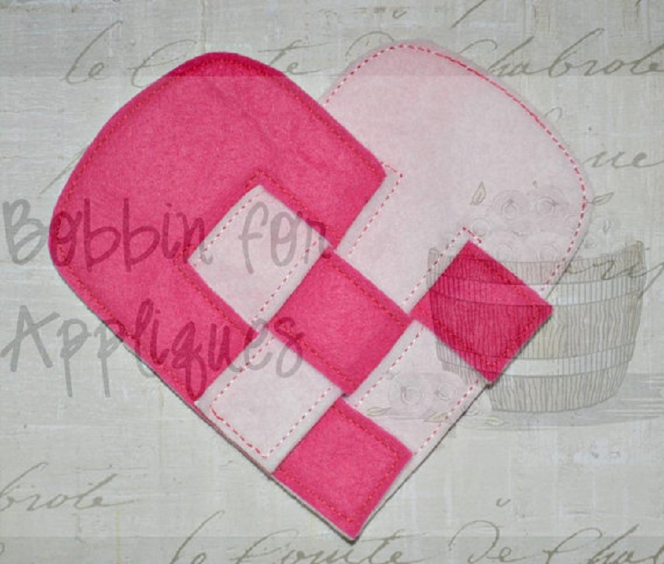 Valentine's Heart Weaving Project ITH