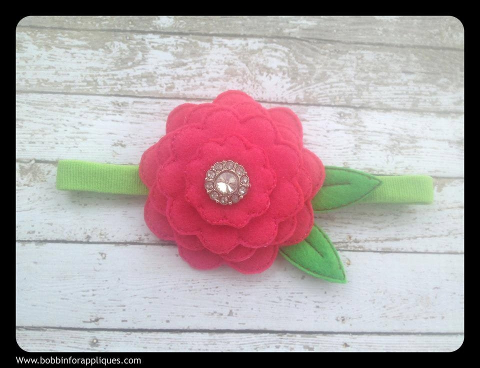 3D Stacked Scallop Felt Flower ITH In the Hoop Embroidery ...