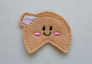 Fortune Cookie Treat Feltie Embroidery Design File