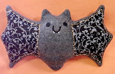 Happy Plush Bat Kawaii ITH In the Hoop Stuffed Toy Design