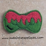 Zombie Bow Applique and Filled Feltie Embroidery Design File