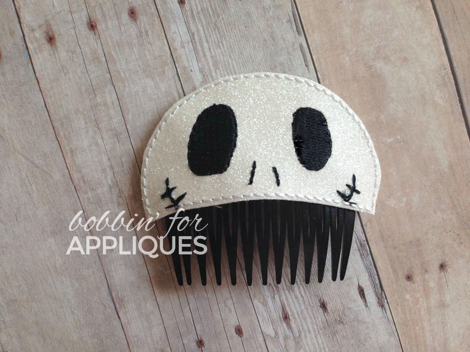 Jake Skullington Inspired Hair Comb Topper