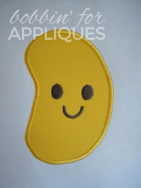 Happy Little Jelly Bean Applique