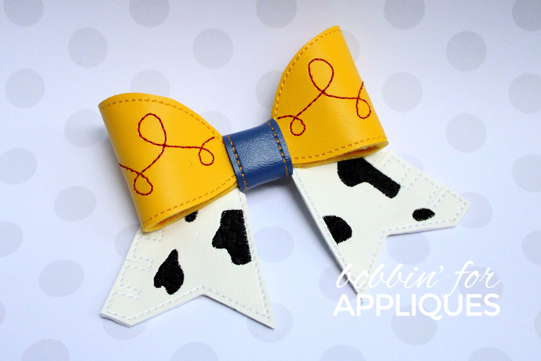 Toy Cowgirl inspired Cheer Bow BIG BOW project ITH