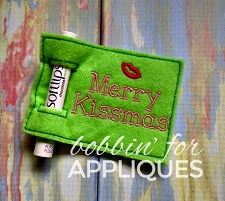 Merry Kissmas ITH Lip Balm Holder Gift