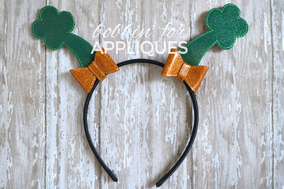 Four Leaf Clover Standing Bow ITH Project