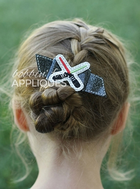 Light Wands Inspired Bow ITH Hair Bow