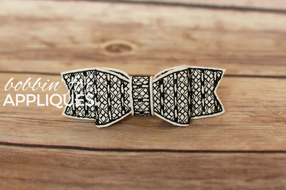 Checkers and Diamonds Motif ITH Bow