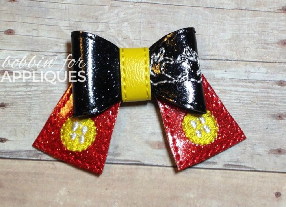 Love the Mice ITH Felt Bow