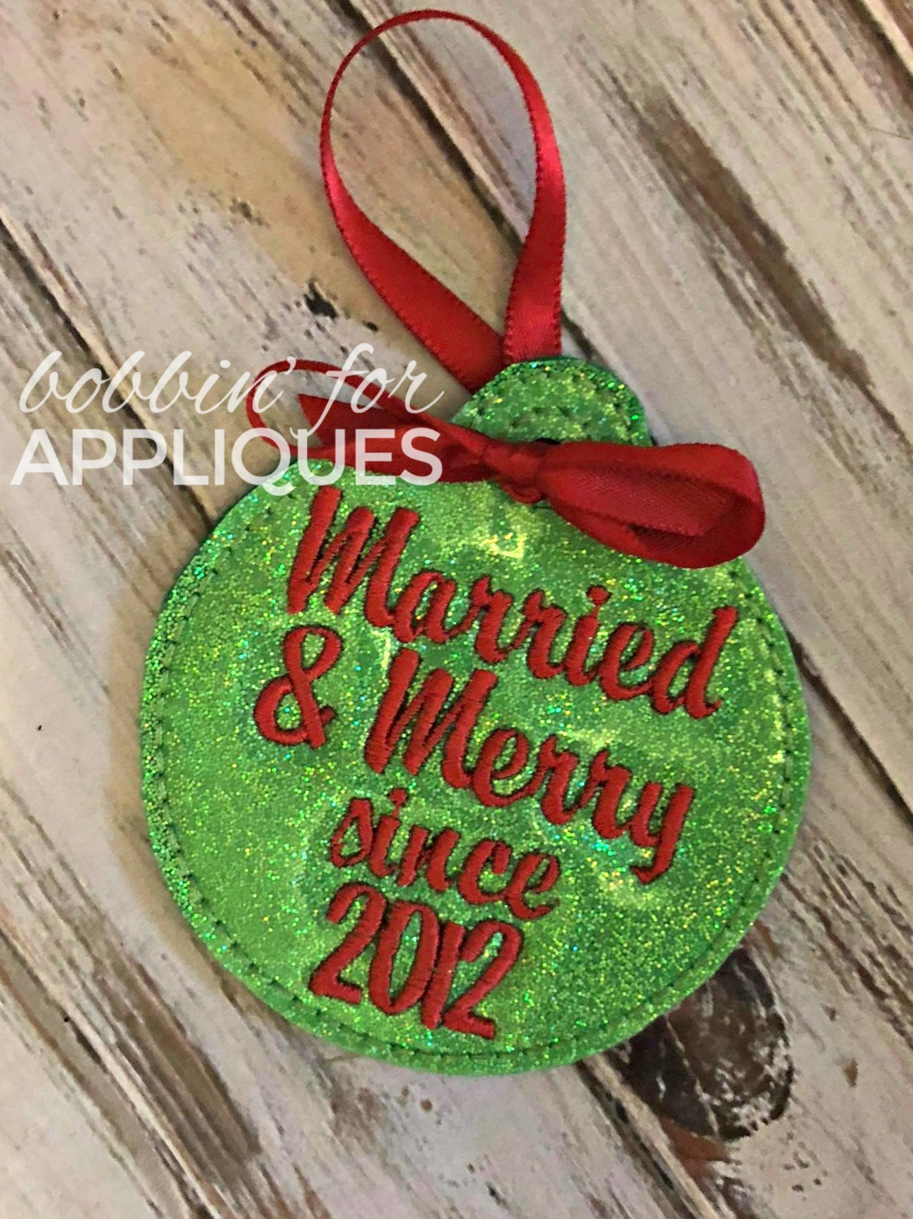 Married and Merry ITH Ornament