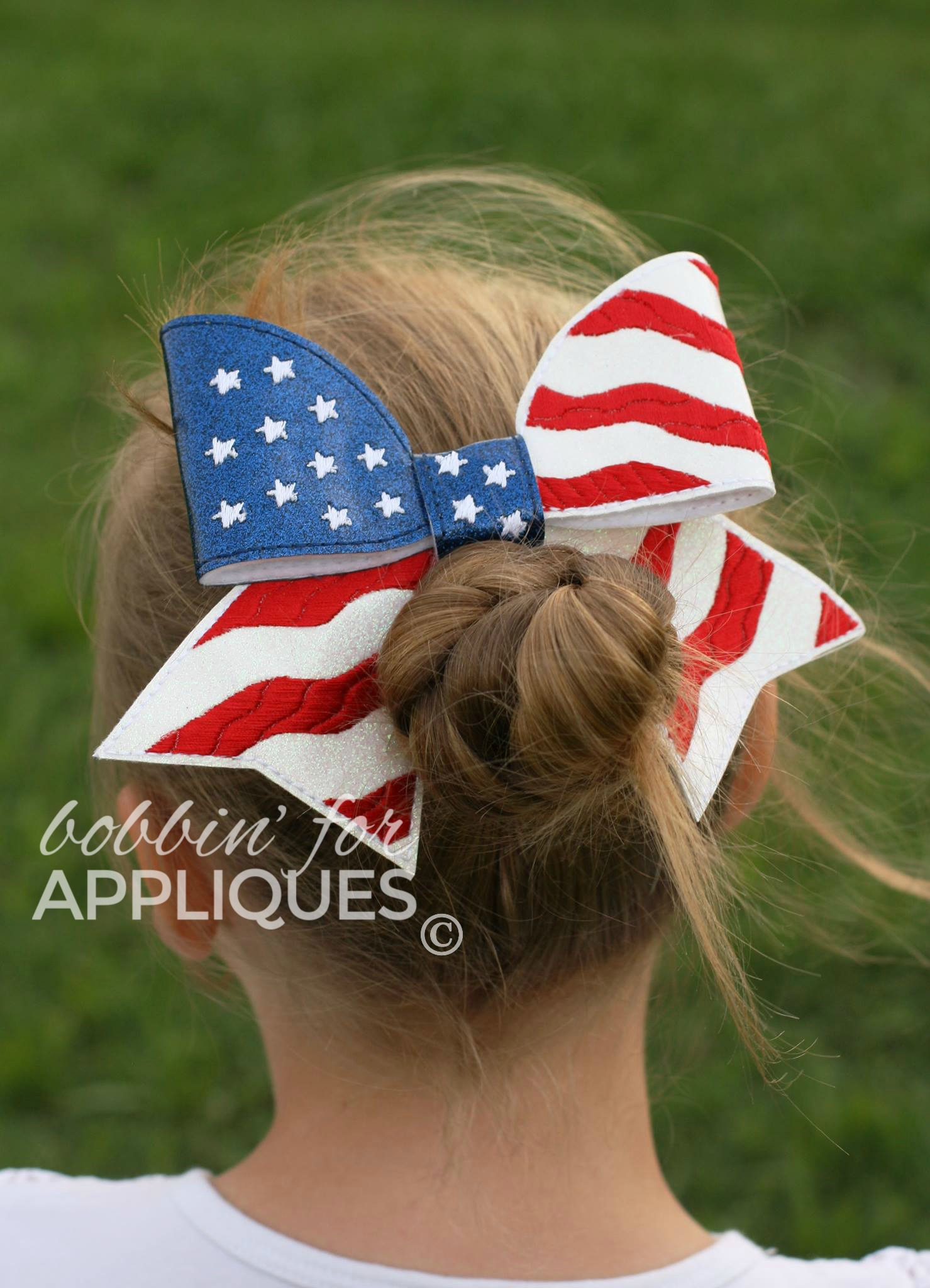 American Flag Cheer BIG BOW project ITH *updated 6/19