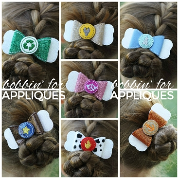 Paw dog inspired bundle ITH Hair Bows
