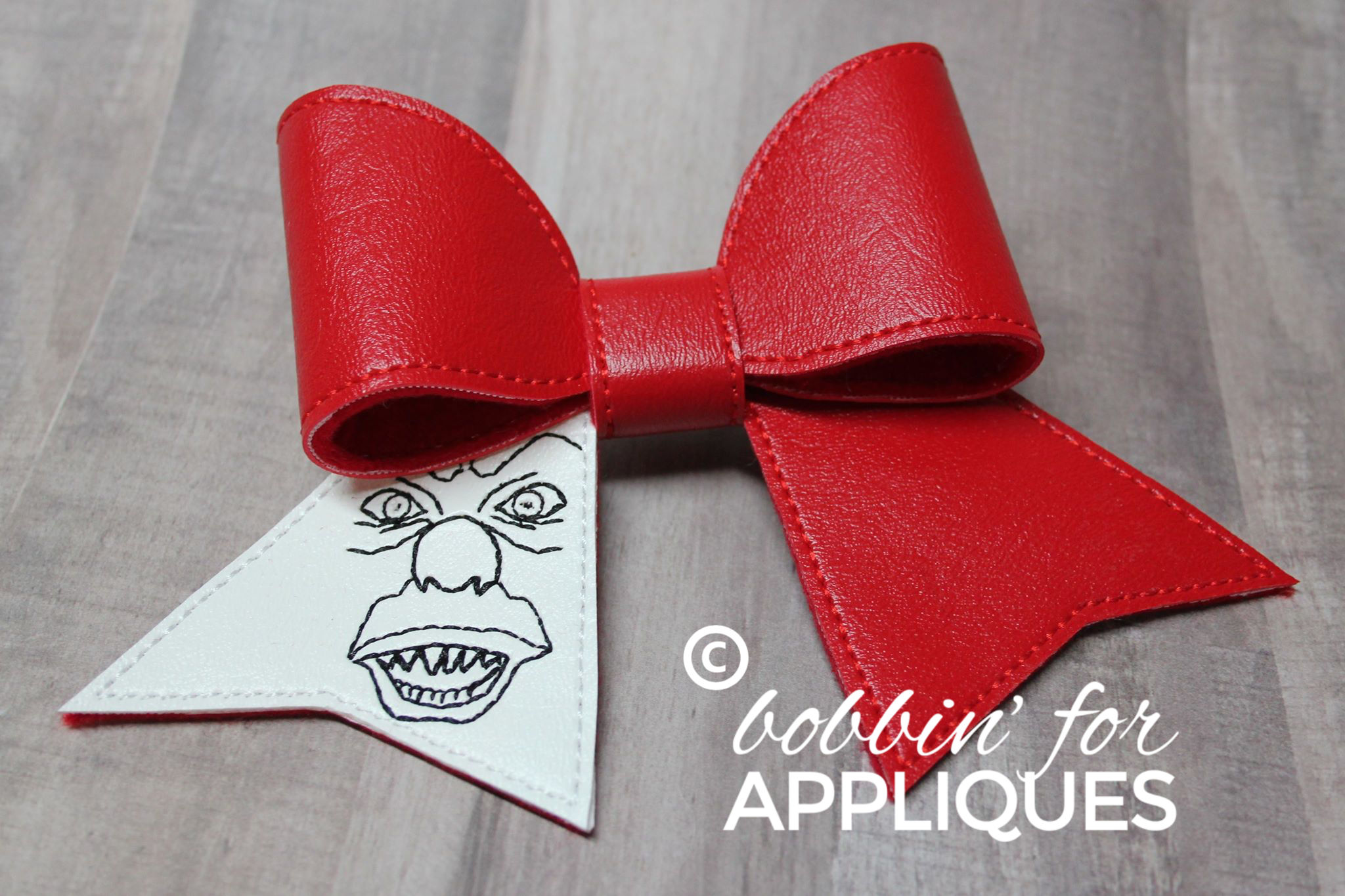 Scary Clown Inspired Cheer Bow BIG BOW project ITH