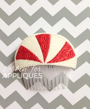 Peppermint Swirl Hair Comb Topper