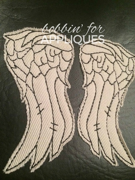 Redwork Wings Machine Embroidery Designs