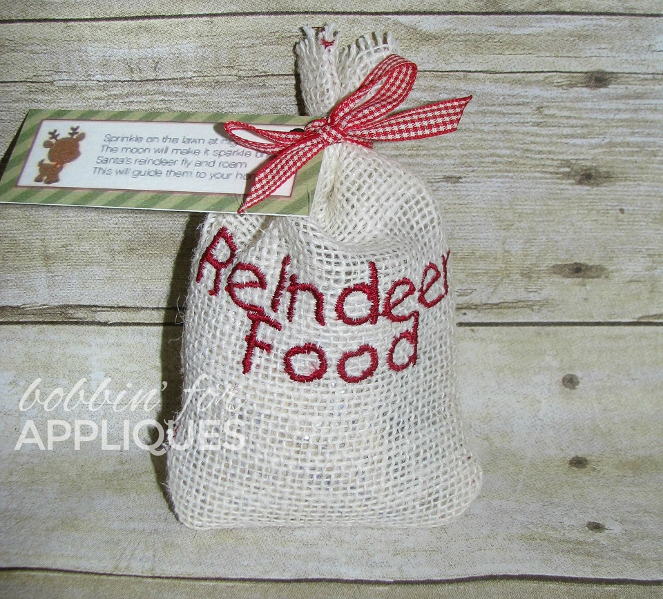 Reindeer Food Bag ITH Project