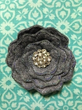 3D Felt Rolled Flower Embellishment ITH In the Hoop