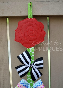 Enchanted Rose Clip Keeper Bow Holder